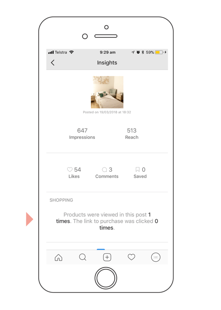 Insights for Instagram's new 'shop now' feature